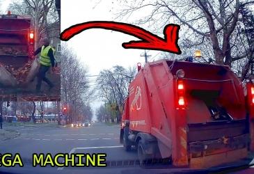 Ako to funguje? Kamión prepravuje spadnuté lístie a odpadky