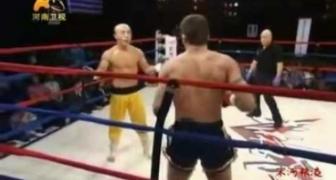 Šaolinský mních VS boxový šampión IKF