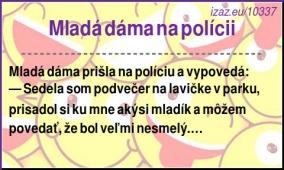 Mladá dáma na polícii