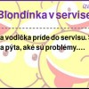 Blondínka v servise