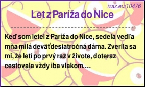 Let z Paríža do Nice