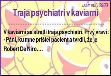 Traja psychiatri v kaviarni