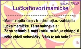 Lucka hovorí mamičke