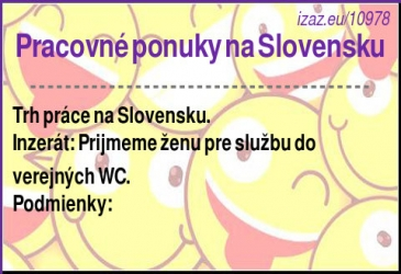 Pracovné ponuky na Slovensku
