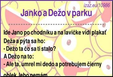 Janko a Dežo v parku