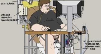 Kreslo pre závislého PC hráča