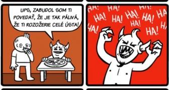 Milovník pizze v pekle