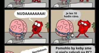 Mozog vs srdce v práci