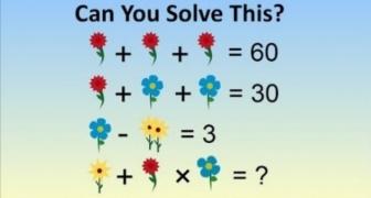 Čínska kvetinková matematická úloha pre škôlkárov