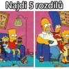 Obrázok Simpsonovcov a 5 rozdielov