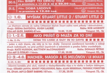 Program kina z roku 2003