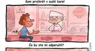 Prvýkrát v sushi bare