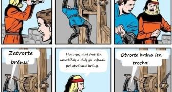 Tlupa feministiek a brána