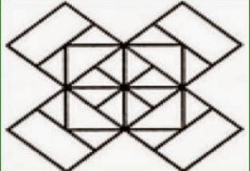 Viete spočítať všetky štvorce: Obrázková hádanka