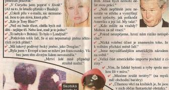 Výroky Paris Hilton a Georga Busha