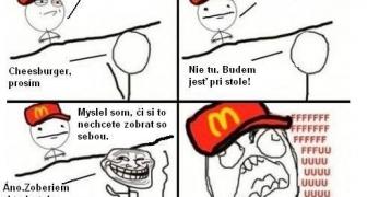 Zákazník McDonaldu na ktorého je predavač prikrátky