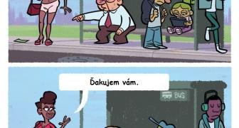 Zízanie cudzích ľudí na ulici