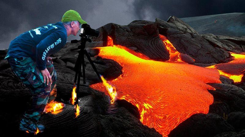 Ako sa láva dostala do domu a spálila ho. Sopečné erupcie.