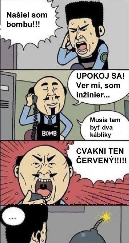 Bomba a inžinier