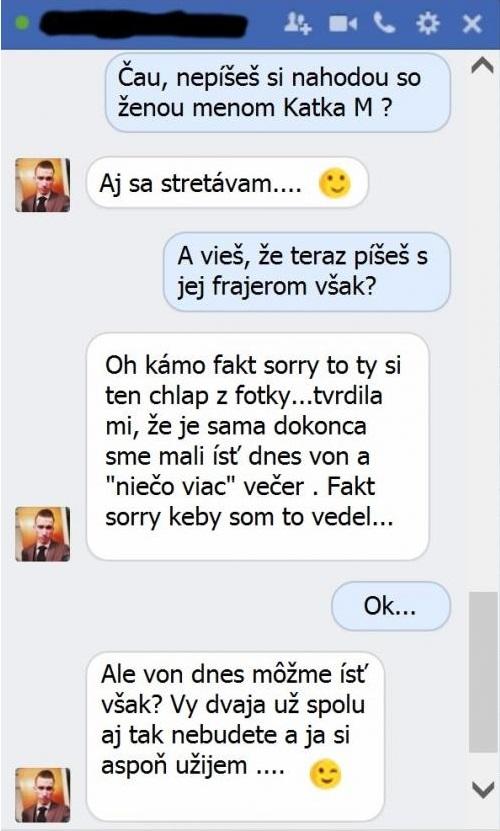 Chat s frajerom známosti z Facebooku