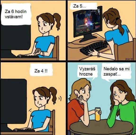 Dôvod nevyspatia PC hráčov