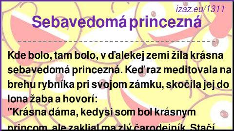 Sebavedomá princezná