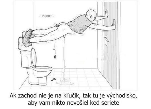 Keď nemáte na WC kľúčik…