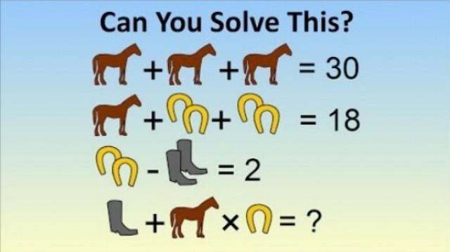 Matematický problém - kôň, podkova, topánka