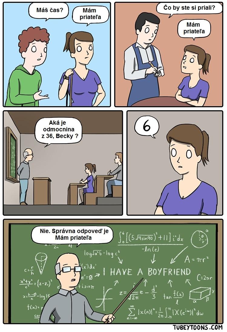 Nesprávna odpoveď dievčaťa, ktoré má priateľa