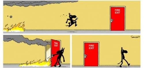 Únik pred ohňom a požiarny východ