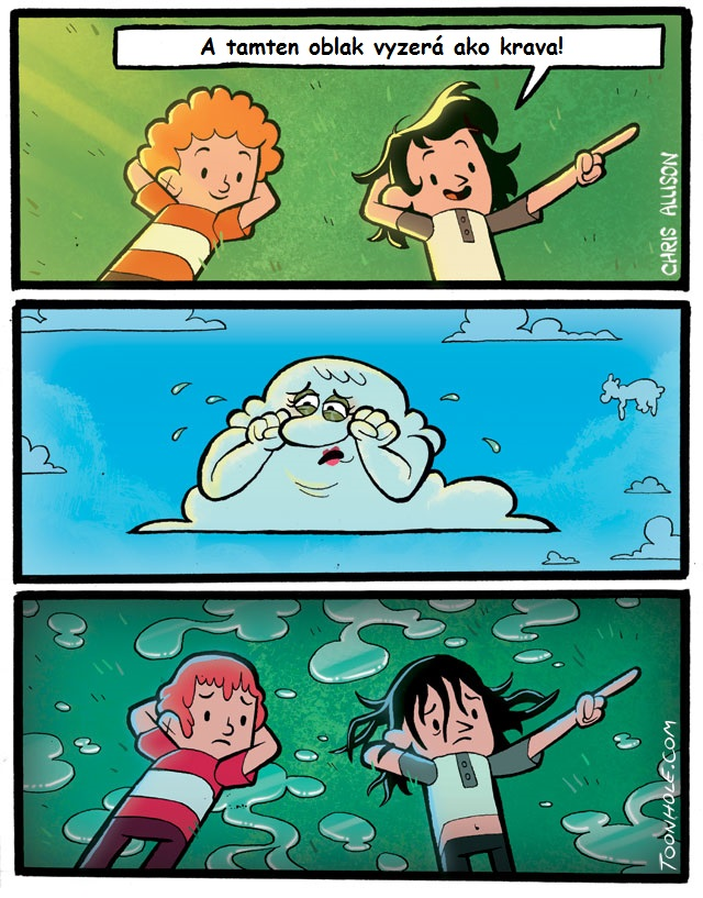 Oblak ako krava