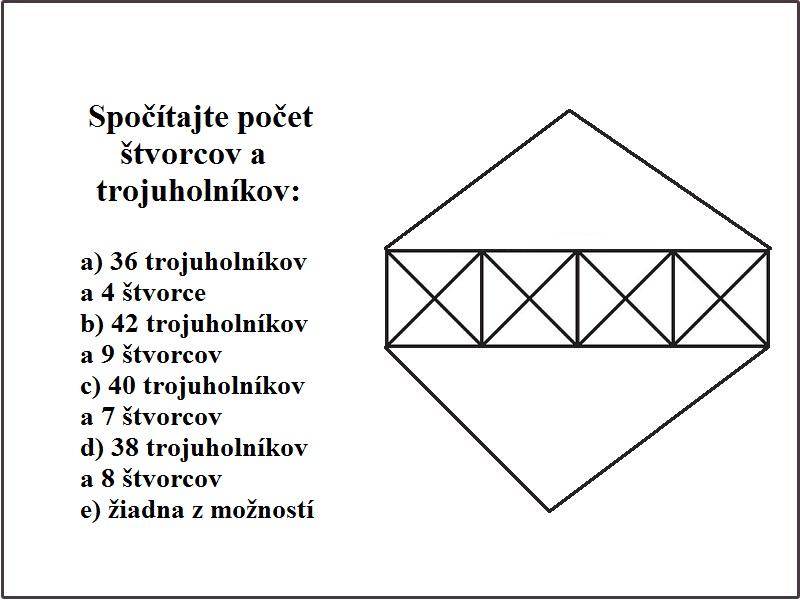 Počet tvarov na obrázku: Obrázková hádanka