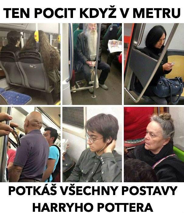 Predstavitelia Harryho Pottera v metre