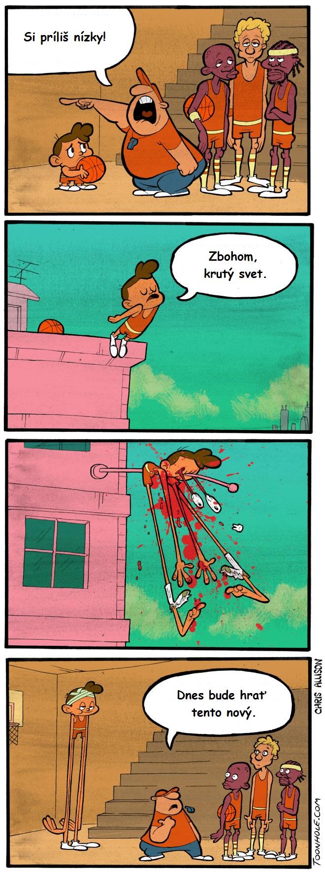 Príliš nízky na basketbal