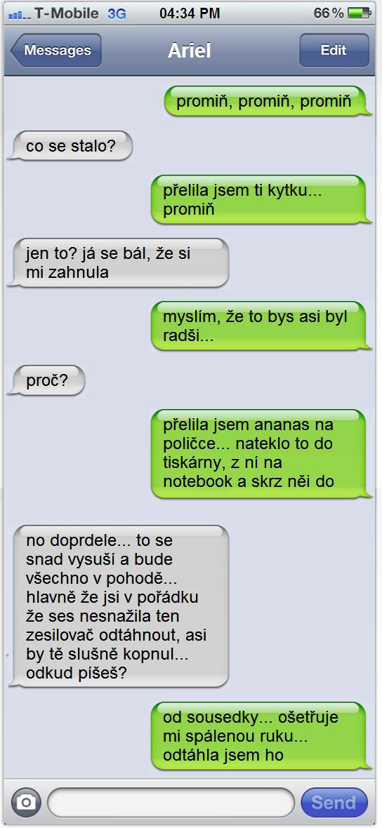 SMS - Menšia nehoda...