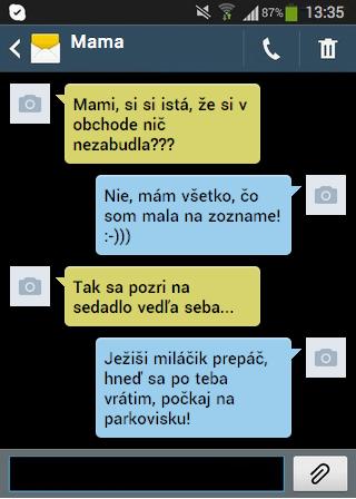 SMS - Nezabudla náhodou niečo?
