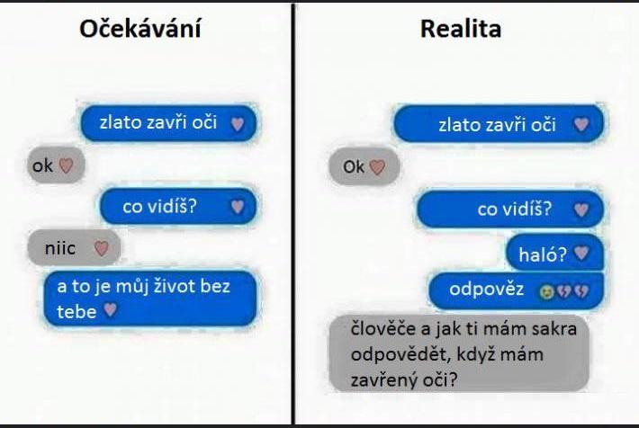 SMS o zavretých očiach