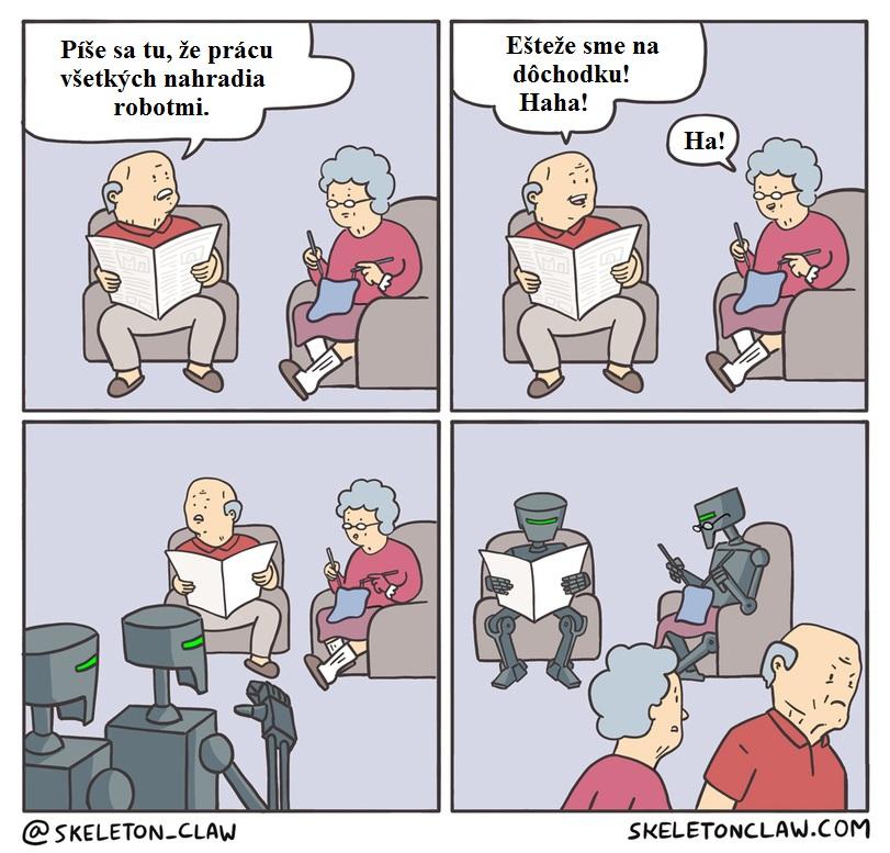 Starí ľudia vs roboty