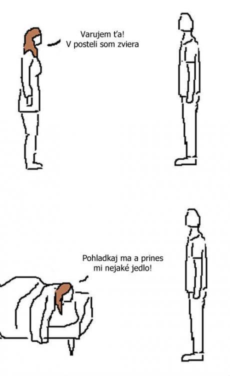 Varovanie o zvierati v posteli